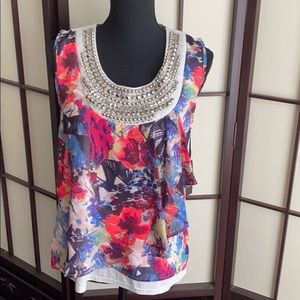 Top with detail front. New with tag